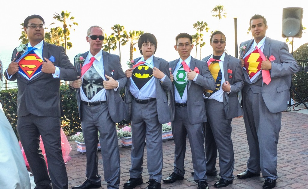Super Heroes and Princesses Join Forces at a Wedding Ceremony at ...