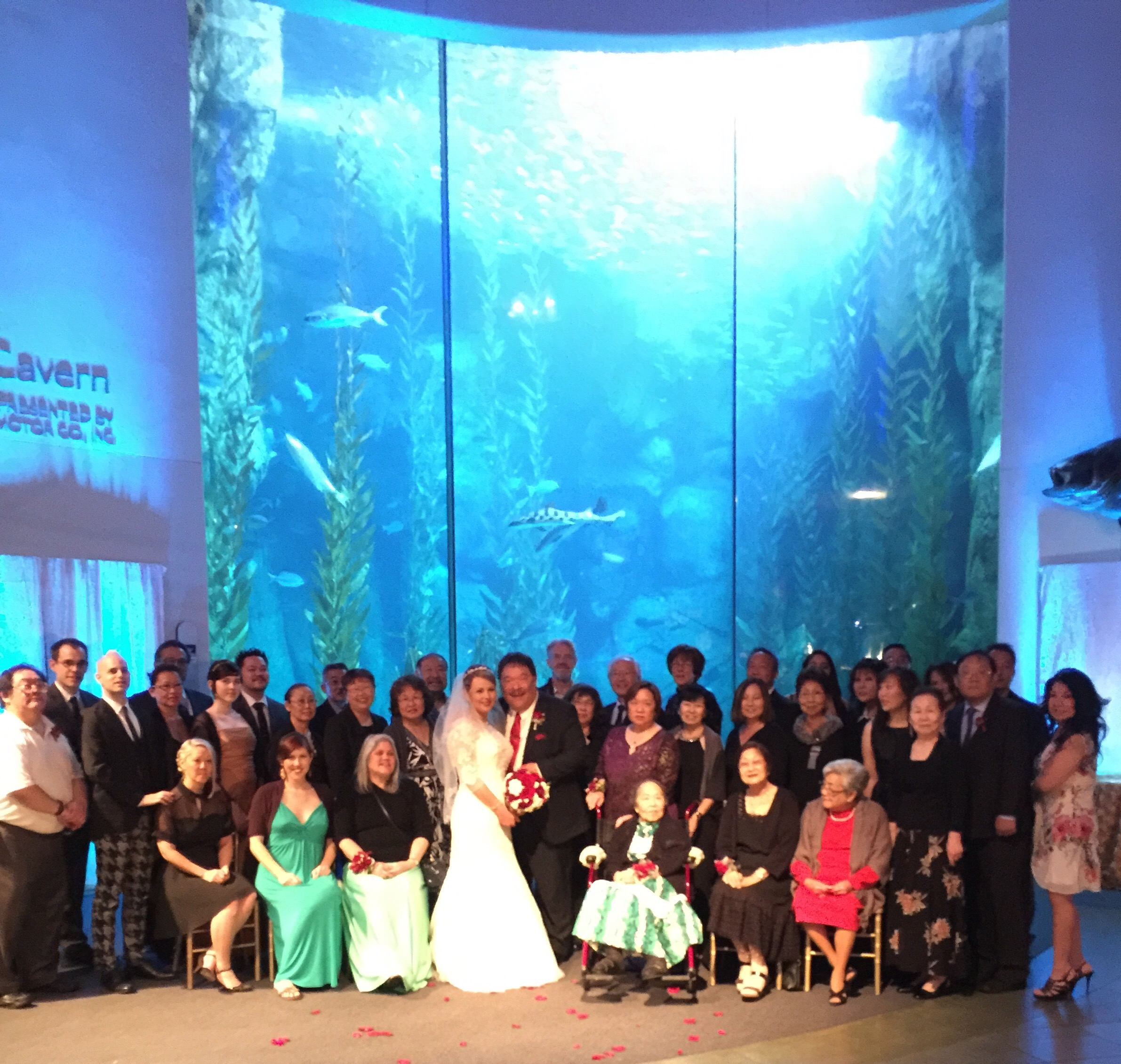 Wedding At The Aquarium Of Pacific In Long Beach