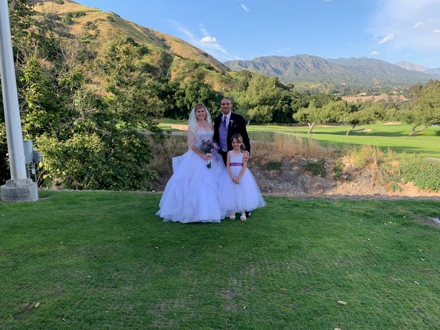 Golf course wedding on San Dimas Canyon golf course